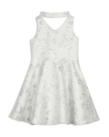 Pippa & Julie - Girls' GiGi Floral Jacquard Dress - Big Kid