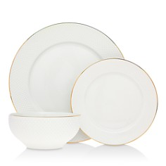 Godinger - Pique 24K Gold 18-Piece Dinnerware Set - 100% Exclusive