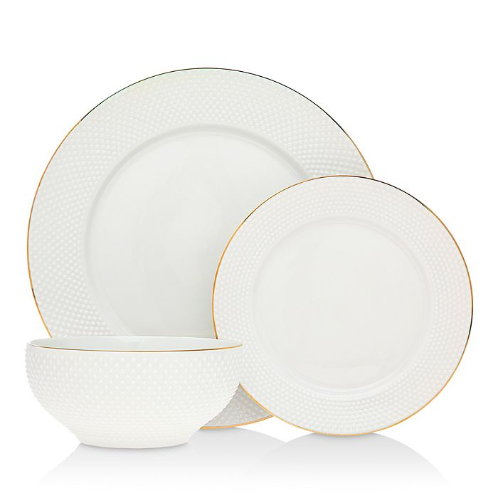 Godinger - Pique 18-Piece Dinnerware Set - 100% Exclusive