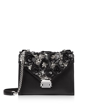 MICHAEL Michael Kors - Whitney Floral Beaded Convertible Shoulder Bag ... b57e46909b