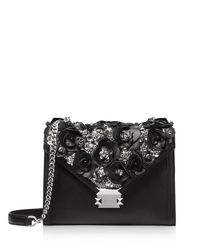 f3a398a6b325 MICHAEL Michael Kors Whitney Floral Beaded Convertible Shoulder Bag ...