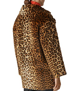 Whistles - Leopard-Printed Faux Fur Coat