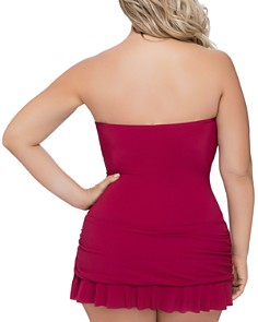 Profile by Gottex Plus - Plus Moto Bandeau Swim Dress