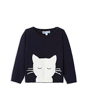 Jacadi Girls Cat Motif Sweater  Baby