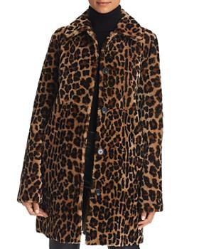 Maximilian Furs - x Michael Kors Leopard Print Lamb Shearling Coat