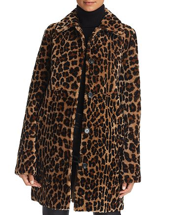 Maximilian Furs - x  Leopard Print Lamb Shearling Coat