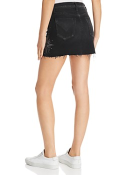 Hudson - Viper Embellished Denim Mini Skirt in Interstellar