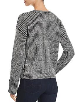 Kenneth Cole - Marled Shaker-Stitch Sweater