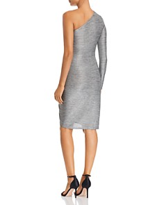 Three Dots - Metallic One-Shoulder Dress