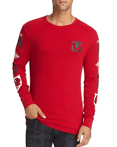 True Religion - Varsity Logo-Print Thermal Shirt