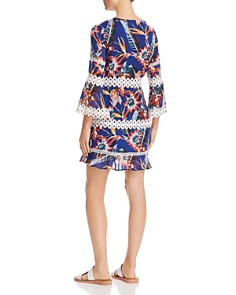 Red Carter - Floral Print Circle Lace Dress