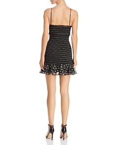 LIKELY - Ruffled Metallic Dot Mini Dress