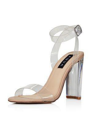 Aqua Women's Luna Clear High-Heel Sandals