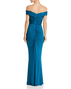 Bariano - Off-the-Shoulder Draped Gown