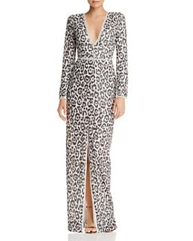 Rachel Zoe - Carey Sequined Leopard Gown