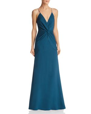JARLO Pia Twist-Front Gown - 100% Exclusive in Emerald