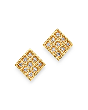 Roberto Coin 18K YELLOW GOLD BYZANTINE BAROCCO DIAMOND EARRINGS