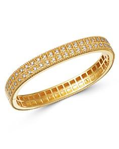 Roberto Coin - 18K Yellow Gold Byzantine Barocco Diamond Two-Row Bangle Bracelet