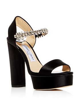 Jimmy Choo - Women's Santina 125 Embellished High Block-Heel Platform Sandals