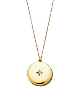 Sasha Samuel - 14K Yellow Gold Plate Maxine Locket Necklace with Solitaire Cubic Zirconia, 20""
