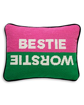 "Jonathan Adler - Bestie Worstie Decorative Pillow, 9"" x 12"""