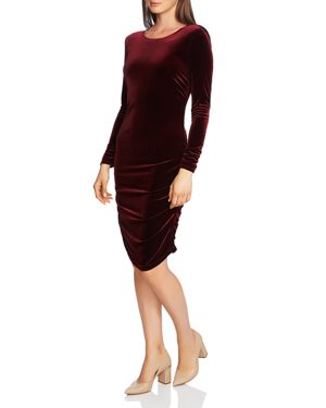 1.state Velvet Open-Back Dress