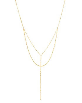 """Moon & Meadow - Layered Y Necklace in 14K Yellow Gold, 18"""" - 100% Exclusive"""