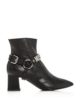 Moschino - Women's Pointed Toe Block-Heel Booties