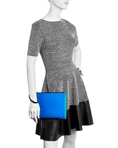 Marni - Pochette Color-Block Leather Wristlet
