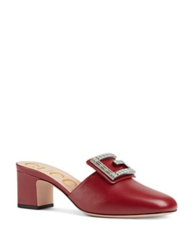 46cad4c64bab Gucci - Women s Madelyn Square G Leather Slides ...