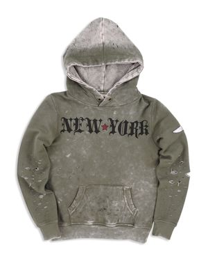 Butter Boys' New York Distressed French Terry Hoodie - Big Kid