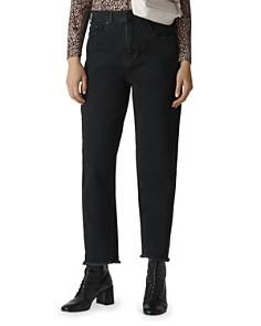 Whistles - High Rise Barrel Leg Jeans in Black