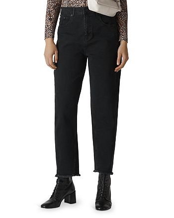 Whistles - High Rise Barrel Leg Jeans in Black