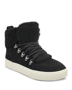 MARC FISHER LTD. Women'S Sana Faux-Shearling High-Top Sneakers in Black