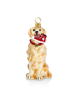 Joy to the World - Golden Retriever with High Top Ornament