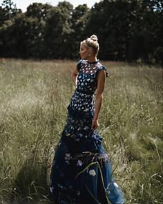 AQUA - Happily Grey x AQUA Embroidered Maxi Dress - 100% Exclusive
