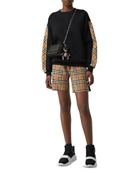 Burberry - Check Print Trim Sweatshirt