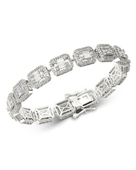 Bloomingdale's - Diamond Mosaic Statement Bracelet in 14K White Gold, 4.0 ct. t.w. - 100% Exclusive