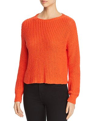 Petite Cropped Shaker Stitch Sweater