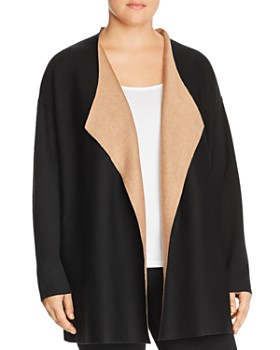 bcbf9cb02e5fb Eileen Fisher Plus - Draped Open Front Cardigan ...