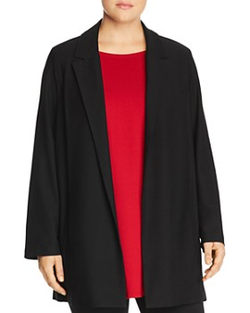 Eileen Fisher Plus - Long Open Front Jacket