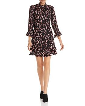 Rebecca Taylor - Flounced Cheetah Print Dress