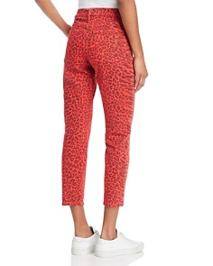 Current/Elliott - The Stiletto Skinny Jeans in Red Warped Species