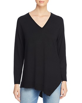 Eileen Fisher Petites - Asymmetric Merino Wool Sweater