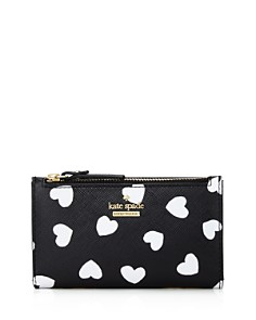 kate spade new york - Cameron Street Hearts Mikey Leather Wallet