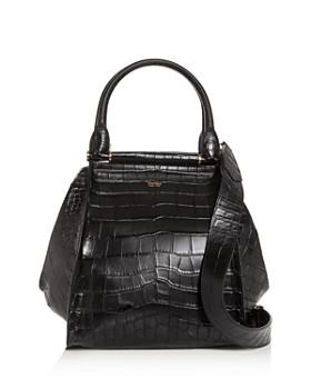 Max Mara - Medium Croc-Embossed Leather Tote
