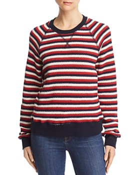 MOTHER - The Square Striped Knit Sweatshirt