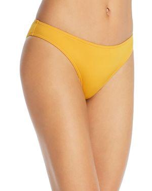 MEI L'ANGE Audrey Low-Rise Triangle Bikini Bottom in Spectra Yellow