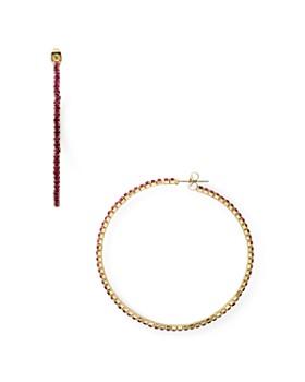 AQUA - Rhinestone Hoop Earrings - 100% Exclusive