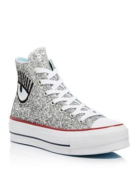 Converse - x Chiara Ferragni Women s Chuck Taylor Glitter High Top Sneakers  ... c4d73ca88